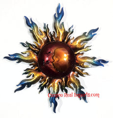 "Wall Hanging Metal Sun 19"" Decor MSS006"