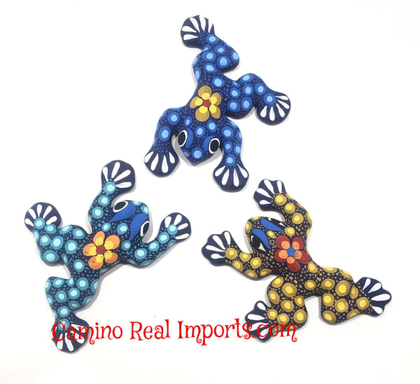 Set Of 3 Wall Hanging Mexican Guerrero Pottery Frogs Caminorealimports.com