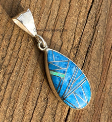 Sterling Silver Lapis Lazuli and Opal Pendant STSP006
