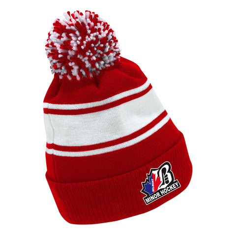 BEL CCM FLEECE KNIT POM TOQUE