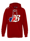 "BEL CCM FLEECE HOODY WITH ""B"" APPLIQUE LOGO ADULT"