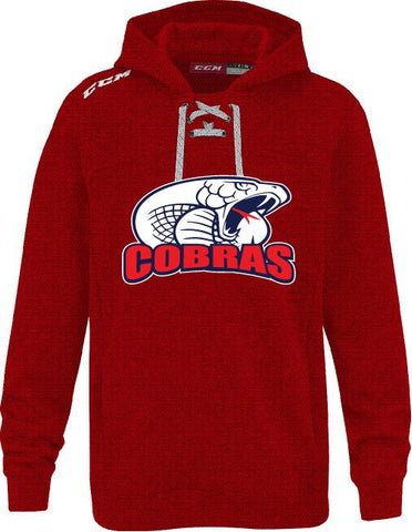 COB CCM FLEECE HOODY WITH APPLIQUE LOGO YOUTH