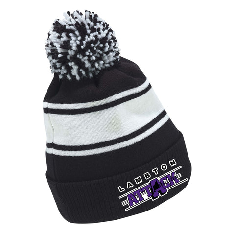 LA CCM FLEECE KNIT POM TOQUE