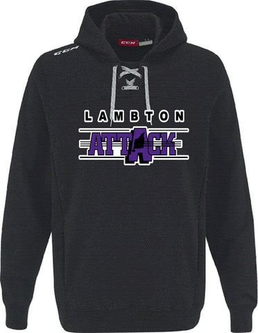 LA CCM FLEECE HOODY WITH APPLIQUE LOGO ADULT