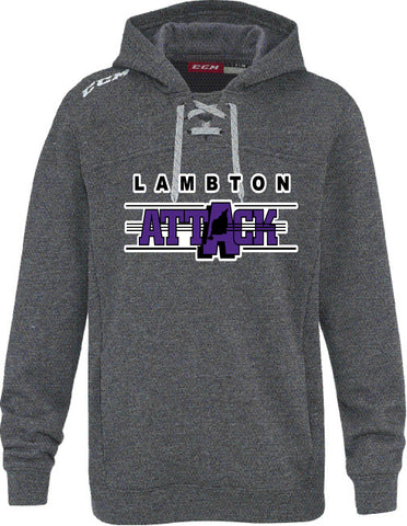LA CCM FLEECE HOODY WITH APPLIQUE LOGO YOUTH