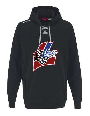 LMH CCM FLEECE HOODY WITH APPLIQUE LOGO YOUTH