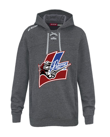 LMH CCM FLEECE HOODY WITH APPLIQUE LOGO ADULT