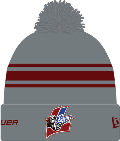 LMH BAUER TEAM STRIPE POM TOQUE