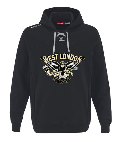 WL CCM FLEECE HOODY WITH APPLIQUE LOGO ADULT