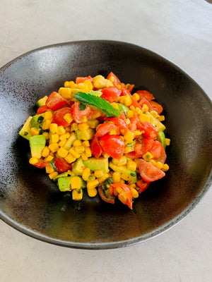 Charred Corn, Avocado and Tomato Summer Salad - VEG, DF, GF