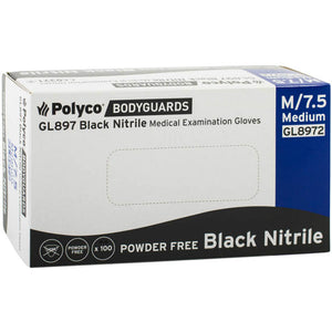 Bodyguard Black Nitrile Gloves for Detailing Size Medium