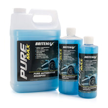 Load image into Gallery viewer, Britemax Pure Max pH Neutral Car Wash Shampoo Group. Best shampoo for ceramic coated cars