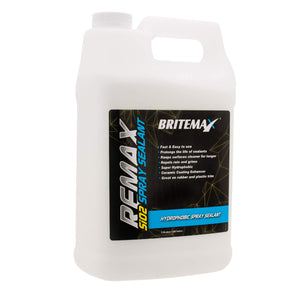 Britemax Remax Si02 Hydrophobic Car Detailing Spray Sealant Trade 1 US Gallon