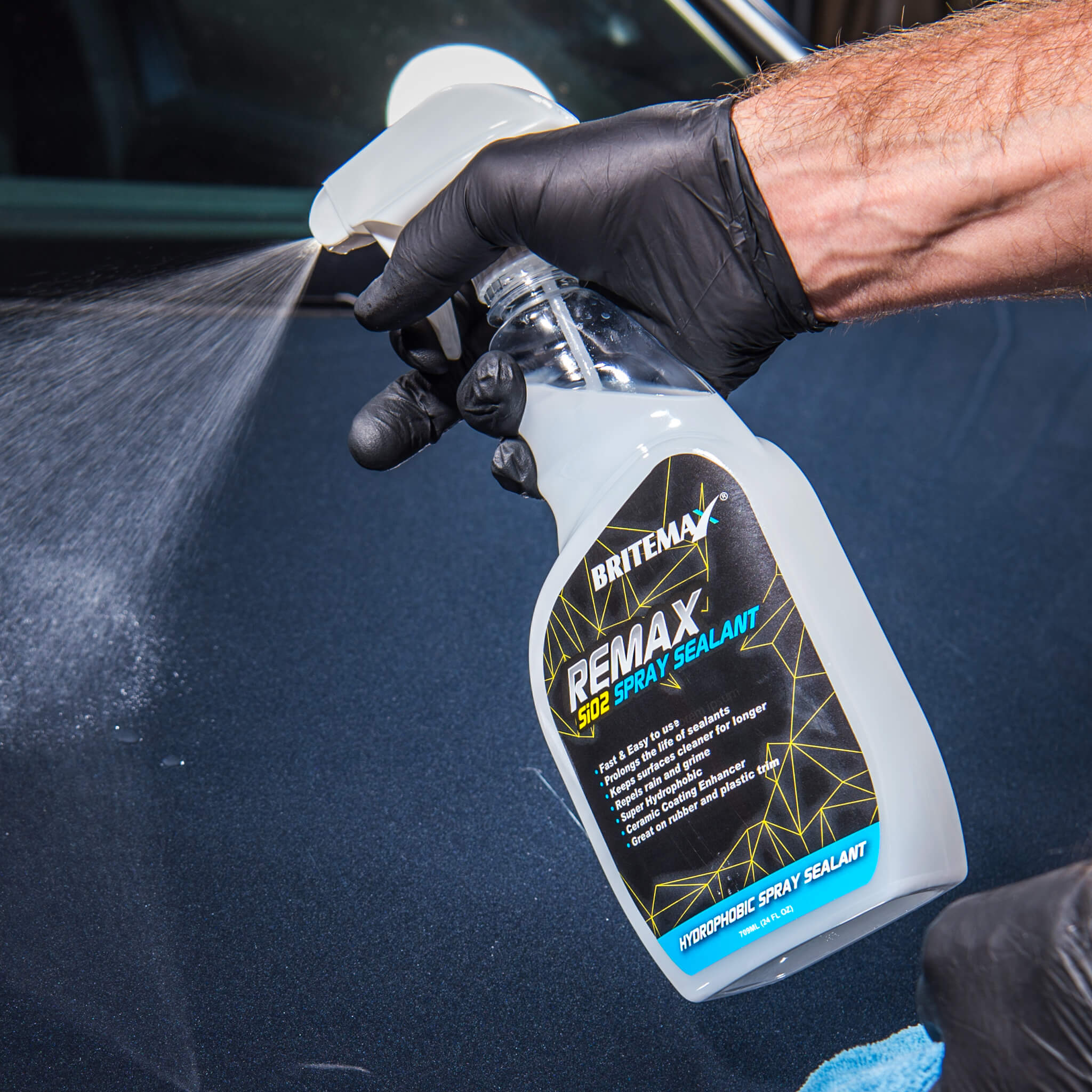 Britemax Remax Si02 Hydrophobic Car Detailing Spray Sealant