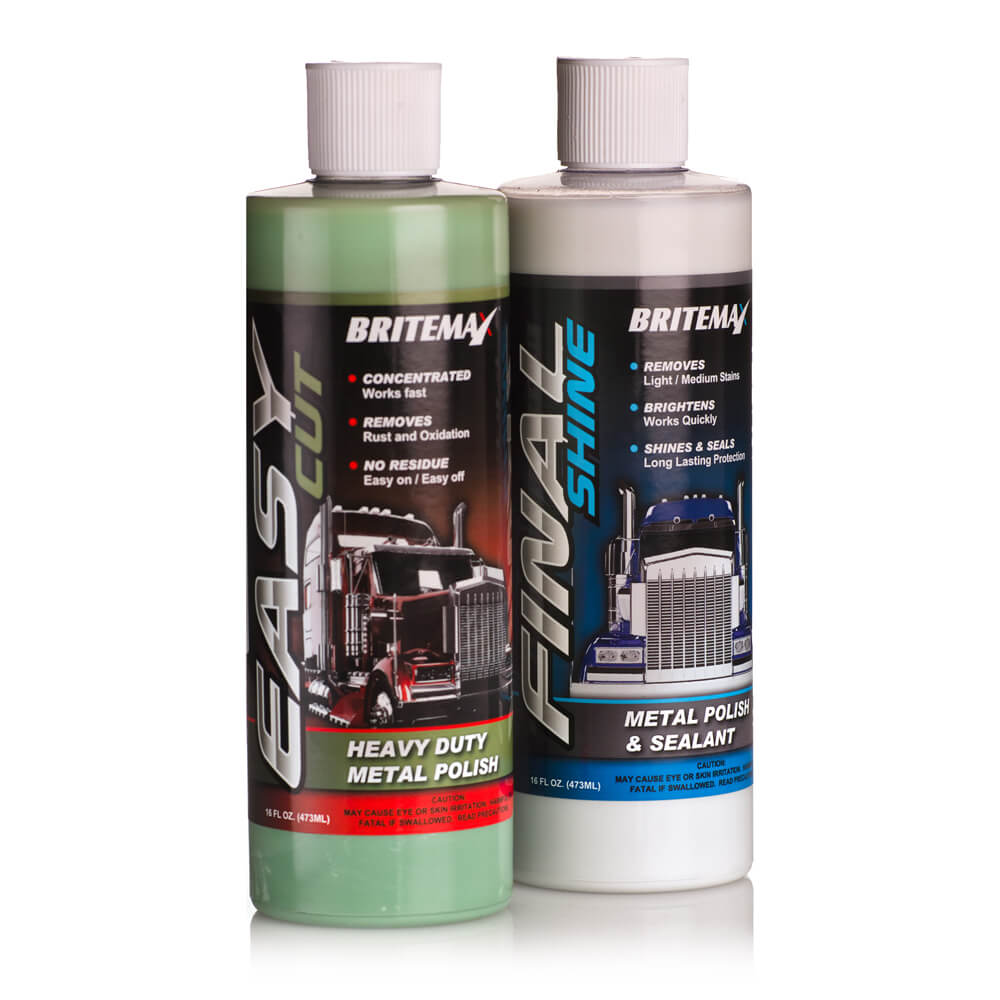 Britemax Easy Cut & Final Shine 'Metal Twins' Polish & Cleaner Kit
