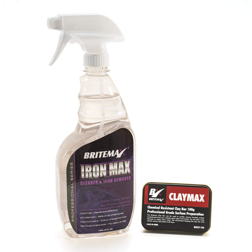 Britemax Iron Fallout Remover & Clay Bar Decontamination Kit