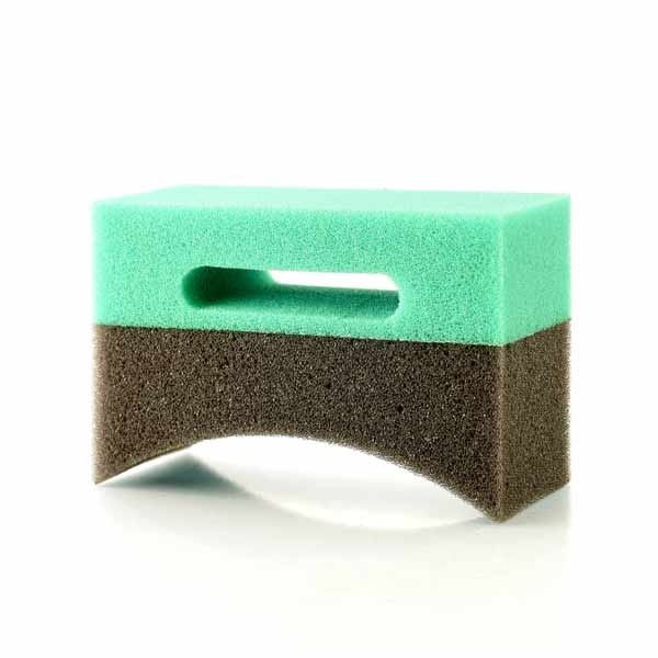 Crescent Shaped Tyre Dressing Detailing Sponge