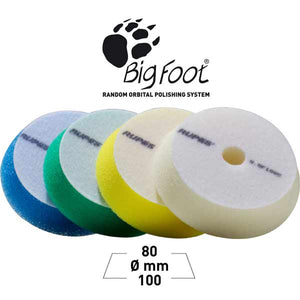 Rupes Bigfoot 100mm 4 Inch Foam Spot Pads Group