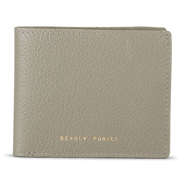 Deadly Ponies - Flip Wallet Pewter
