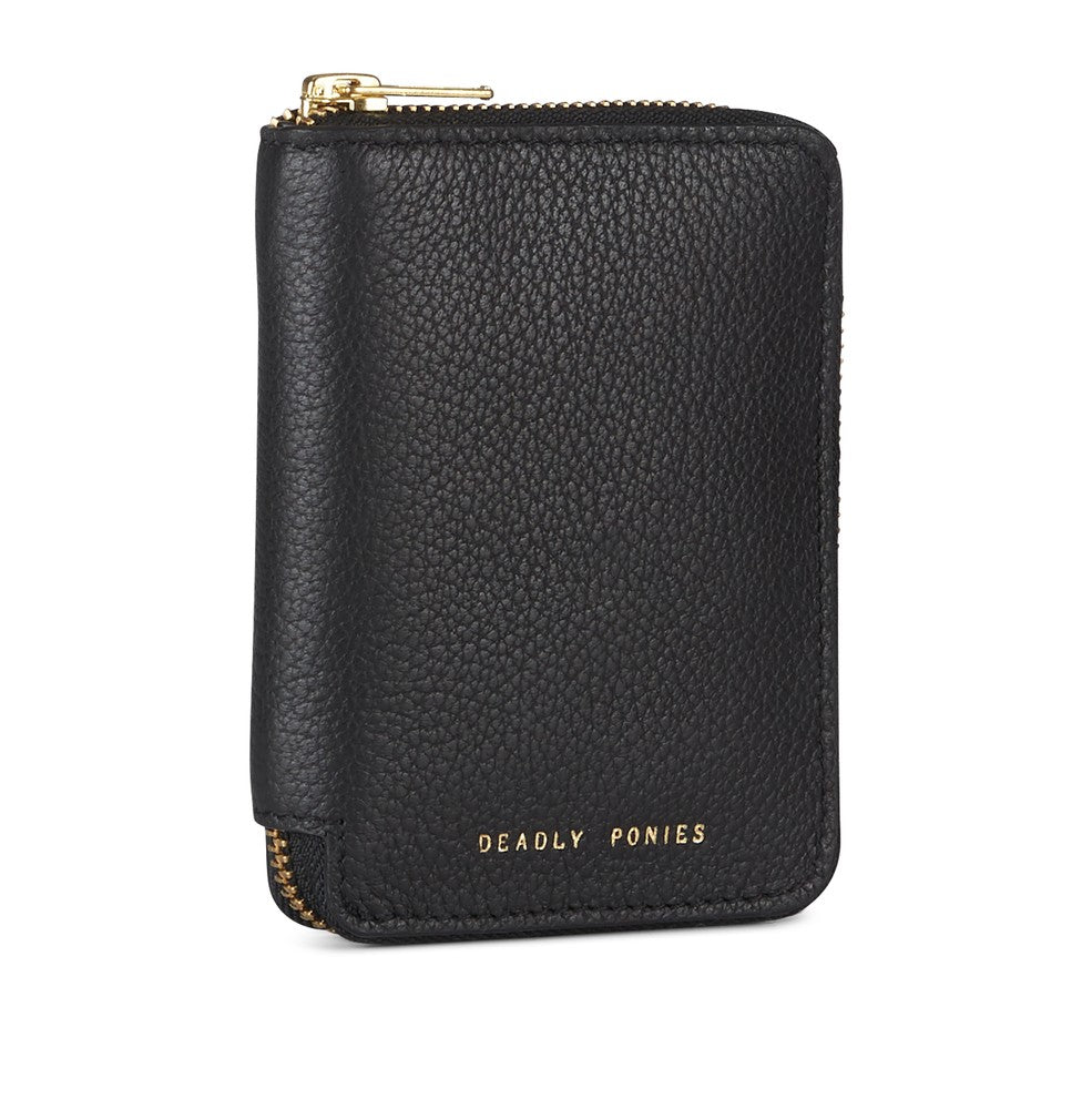 Deadly Ponies - Mini Wallet Zip Black