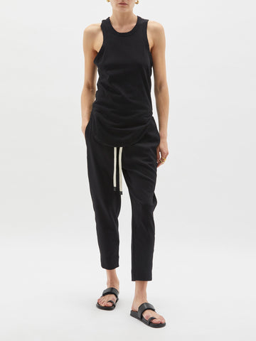 Bassike - Wide Heritage Scoop Hem Tank Black