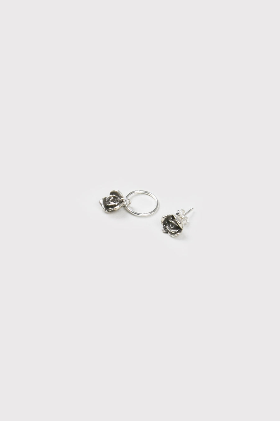 Company Of Strangers - Rose Bud Earrings Silver