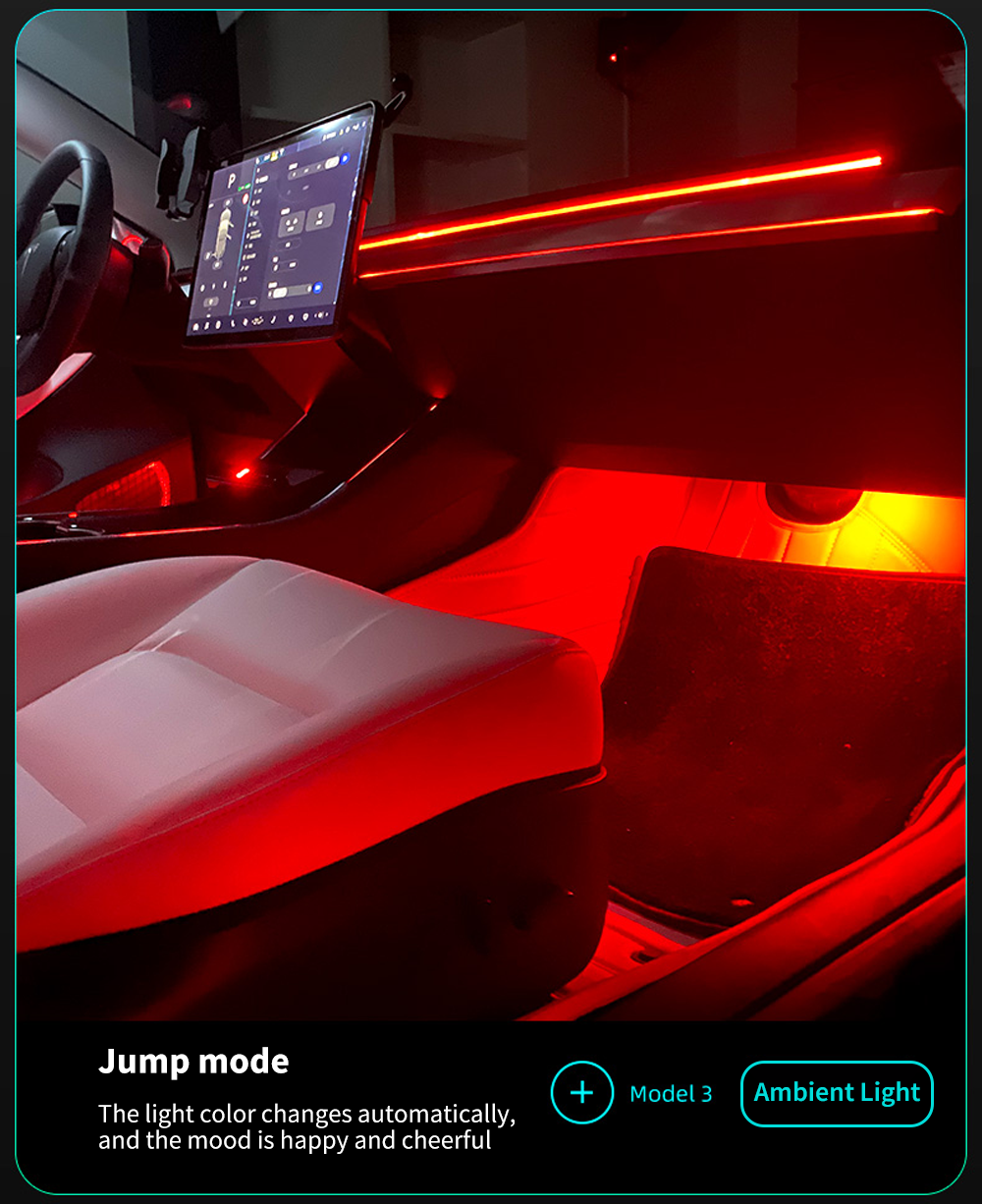 Tesla Model 3 Full Ambient Lighting Kit