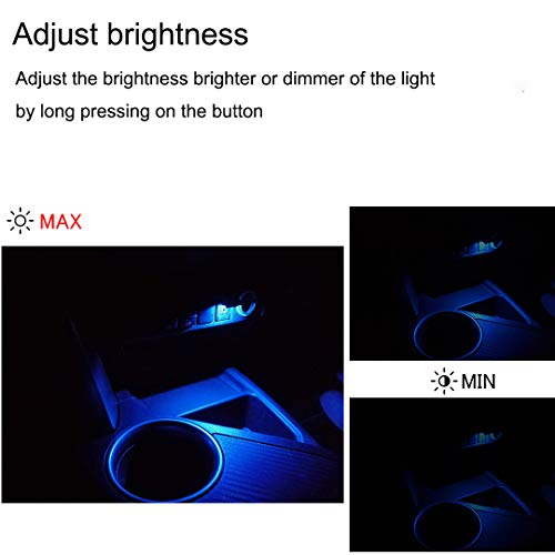 Mini USB C LED Night Lamp 8 Color RGB Atmosphere Lamp USB Type C Ambient Light Car Interior LED Lighting Replacement Compatible with Tesla Model Y Model 3 USB-C Backseat Ports