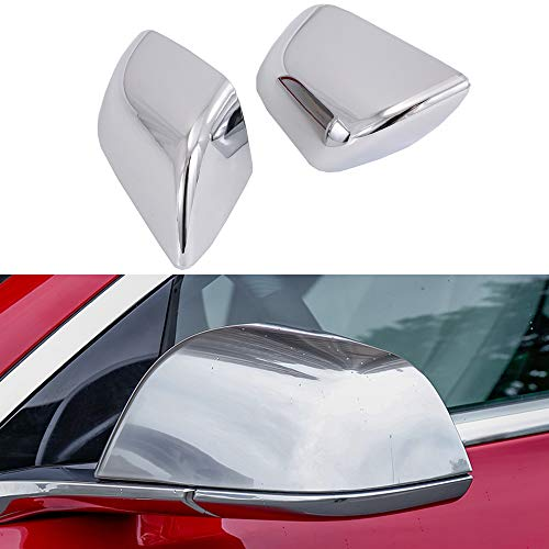 OBL Side Mirror Cover for Tesla Model 3 Car Exterior Accessories ABS Chrome Plating Outside Mirrors Cap Replacement Decoration (Pack of 2)