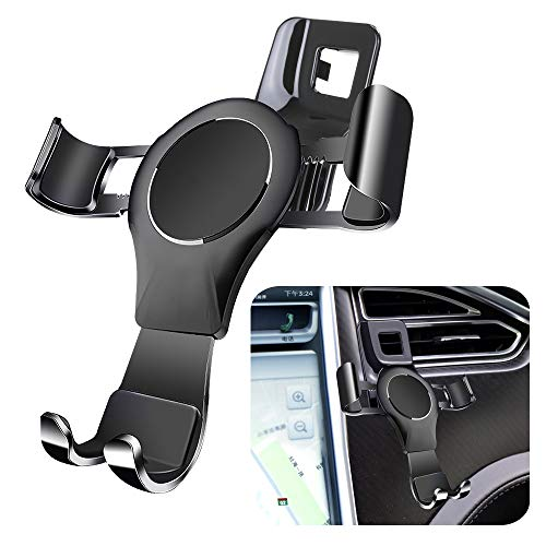 LUNQIN Car Phone Holder for 2016-2020 Tesla Model X and 2012-2020 Model S Auto Accessories Navigation Bracket Interior Decoration Mobile Cell Phone Mount