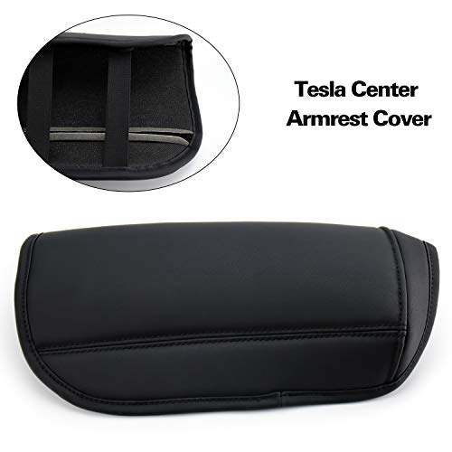 Funmit Center Console Cover Washable & Reusable Armrest Box Protector Replacement for Tesla Model 3 Vehicles Color Black