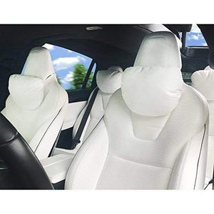 Car Neck Pillow (Soft Universal Version) Adjustable Strap Comfortable Memory Foam Neck Support Car Seat Headrest Tesla Model X Model S Model 3, Model Y (2 PCS)