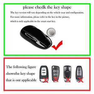 YTF-Carbon real carbon Fiber Key Fob Cover for Tesla , Keyless Remote Key Case Shell Cover for Men for Women -silver black