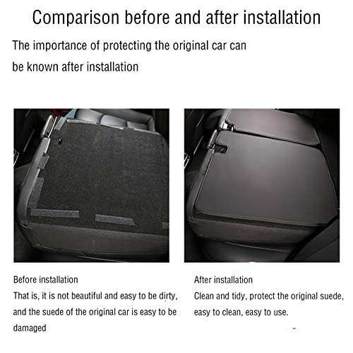 Back Seat Protector Storage for Tesla Model 3 Microfiber Leather Rear Cargo Liner Durable Odorless All Weather Trunk Mat Tesla Model 3 Accessories Interior Decoration