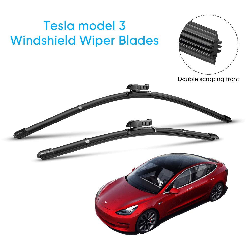 Tesla Model 3 All-Season Replacement Windshield Wiper Blades