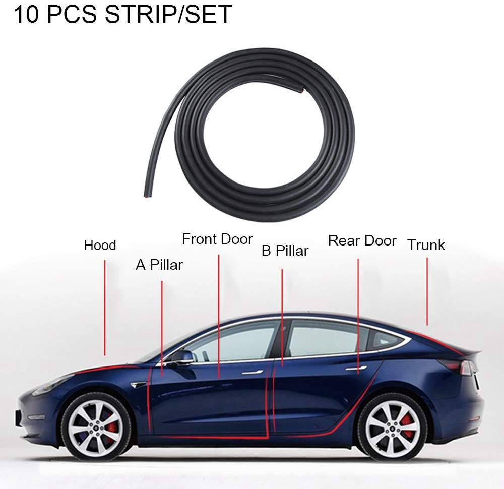 Tesla Model 3 & Y Door Seal Wind Noise Reduction Kit