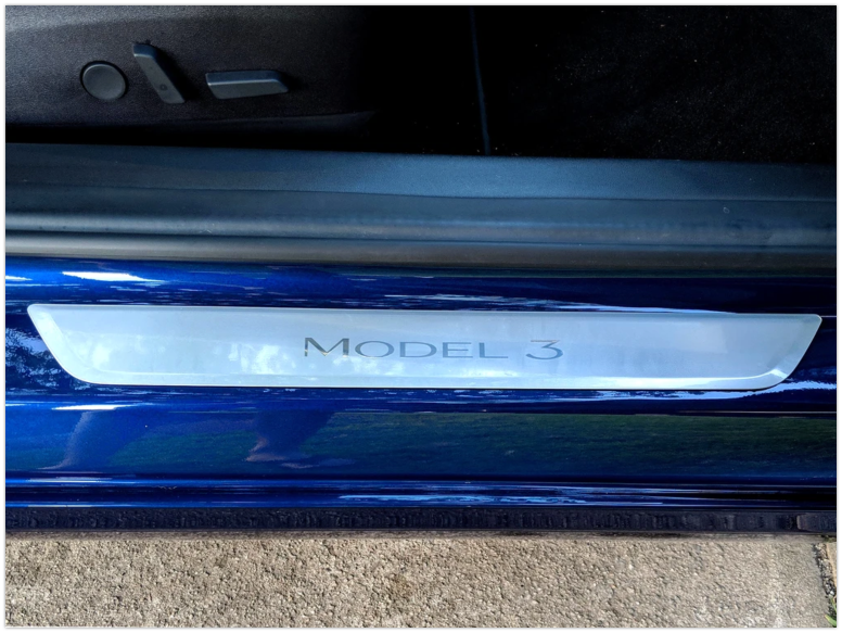 Tesla Model 3 & Y Clear Door Sill Protectors(2 Pieces)