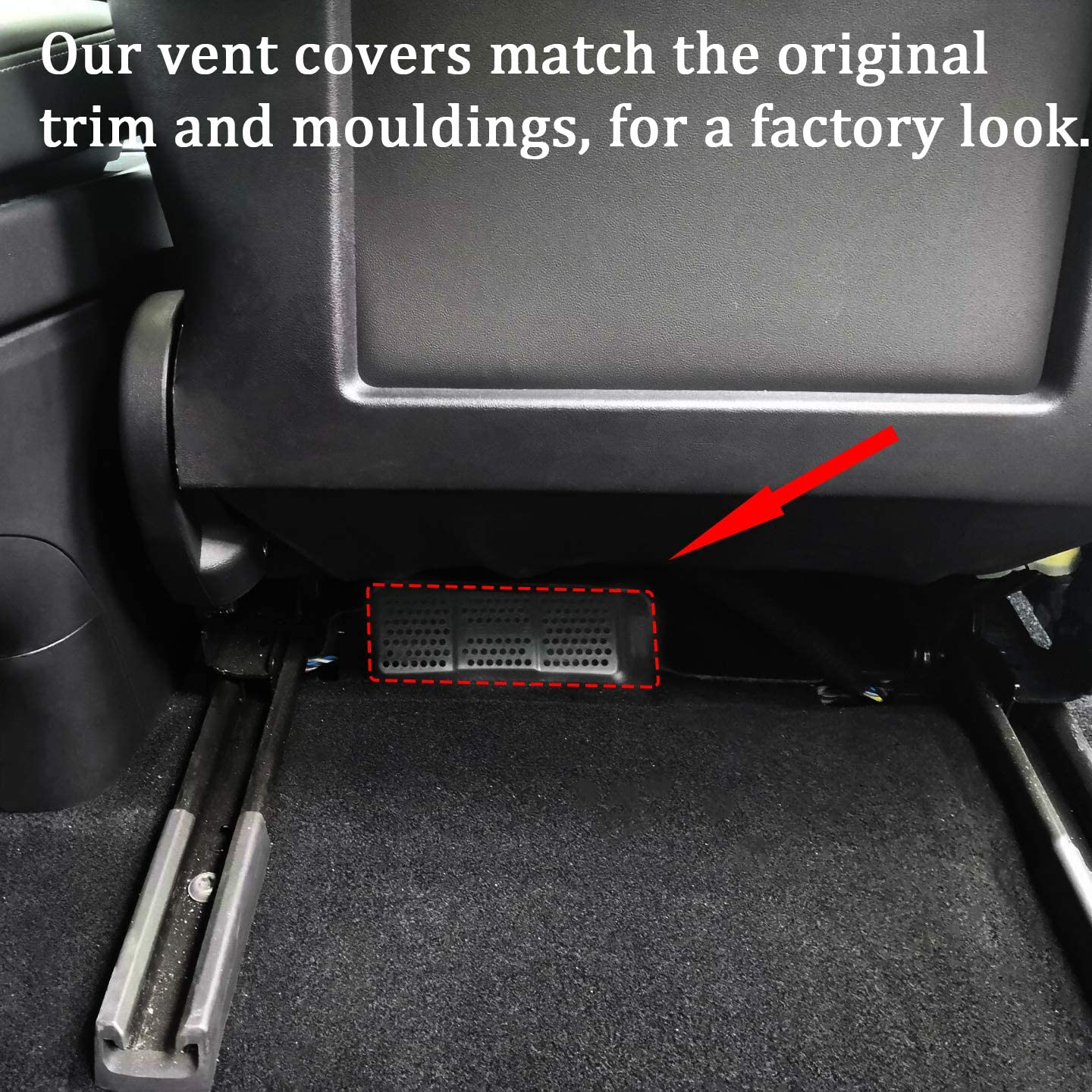 Tesla Model 3 Rear Seat Air Vent Cover Grille Under Front Seat (2 PCS)