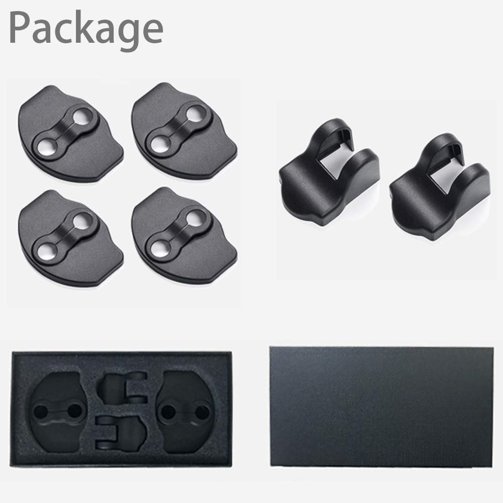 Tesla Model 3 & Y Door Lock & Door Stopper Covers (Set of 6)