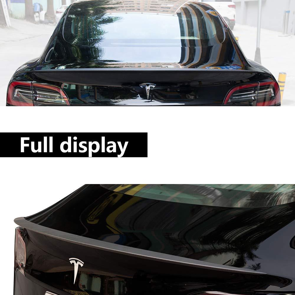Tesla Model 3 Performance Tail Wing Rear Trunk Lid Carbon Fiber Spoiler