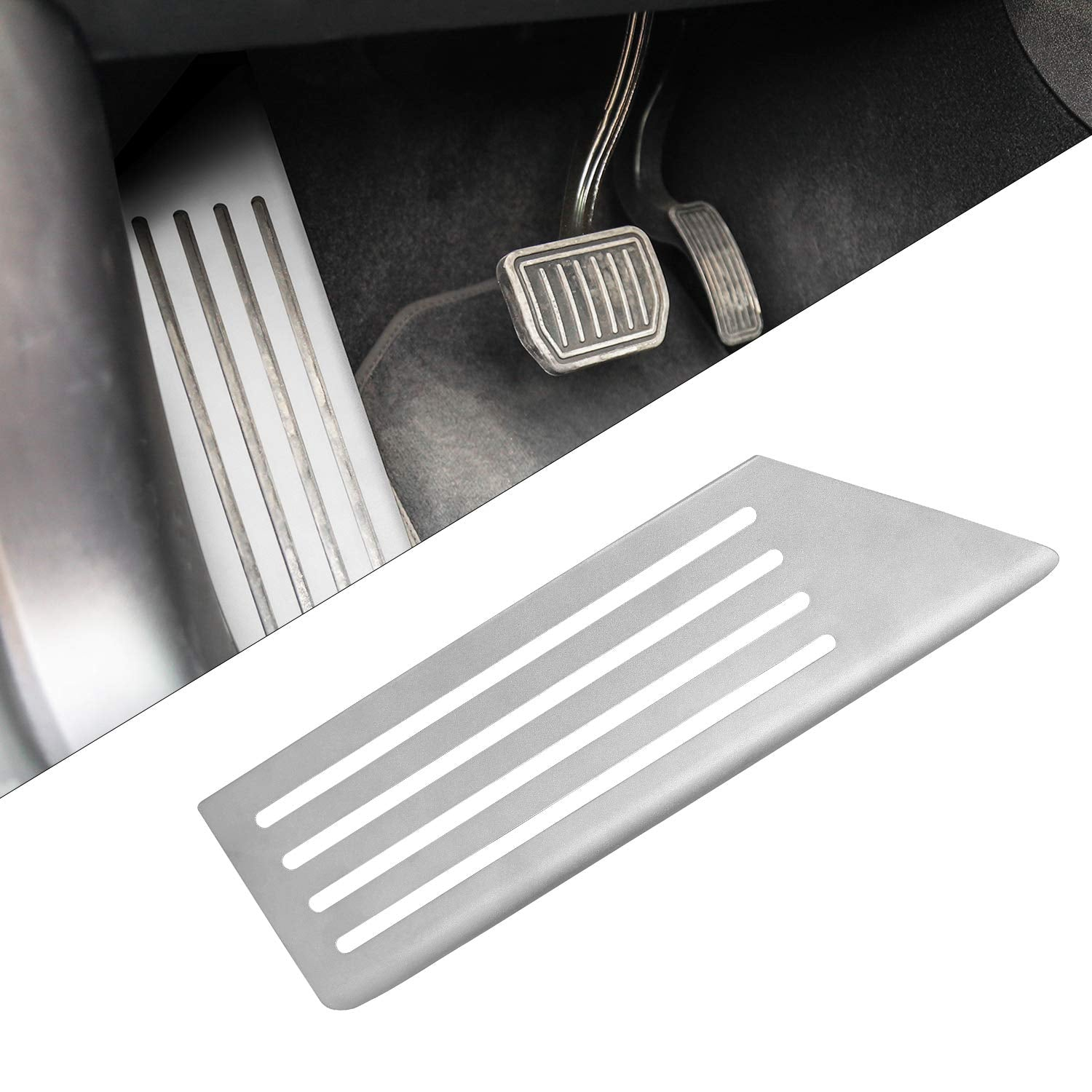 Tesla Model 3 Stainless Steel Footrest Dead Pedal