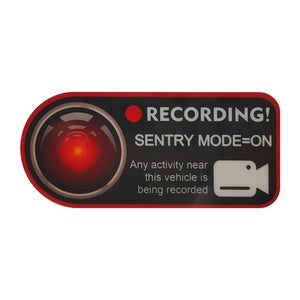 Tesla Sentry Mode Recording Window Sticker for Tesla Model S, 3, X, and Y