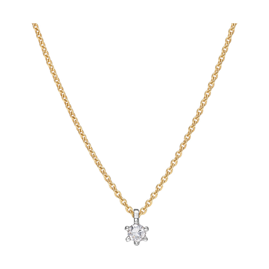 BRILLANT COLLIER 585 GOLD