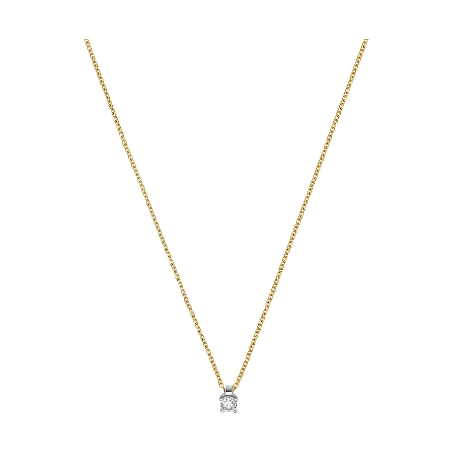 BRILLANT COLLIER 0.10 KARAT 585 GOLD