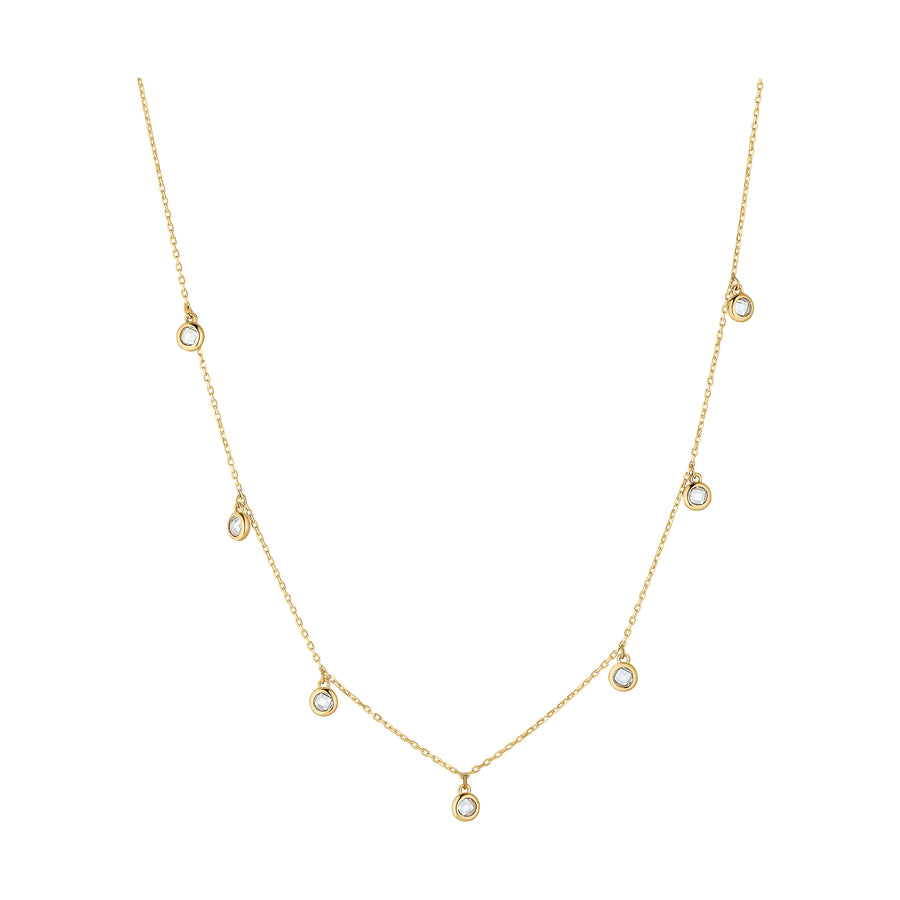 ZIRKONIA COLLIER 333 GOLD