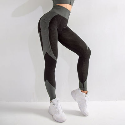 Seamless Two-Tone Modern Push Up Leggings