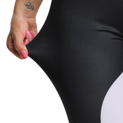 Jet Black Neon Reflective Leggings