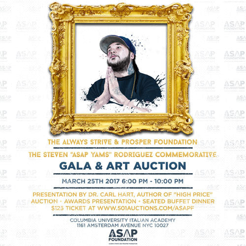 ASAP  Ferg Auctions ASAP Yams Painting at Foundation Gala and Art Auction