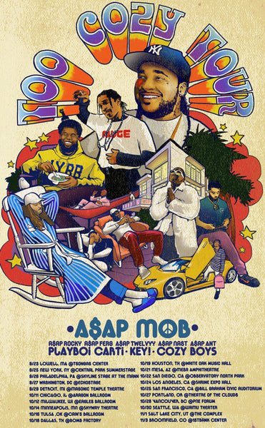 "ASAP Mob Announces ""Too Cozy"" Tour"