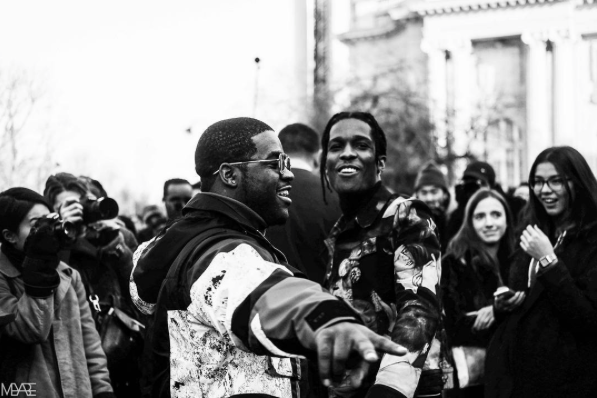 ASAP Rocky and ASAP Ferg Attend Dior Homme Fashion Week Show in Paris